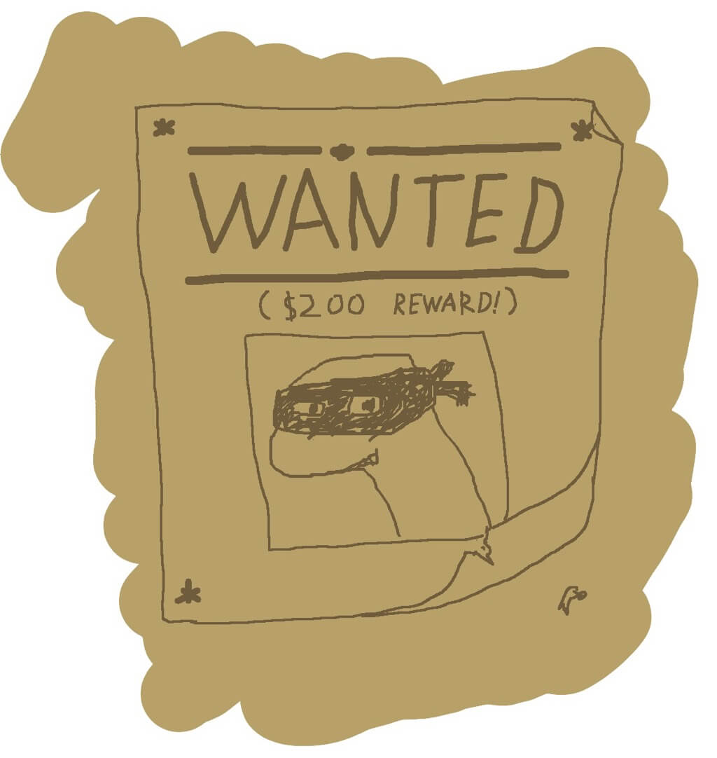 Wanted poster for $200